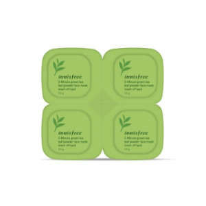 INNISFREE 5-Minute green tea leaf powder face mask 3.5g*4