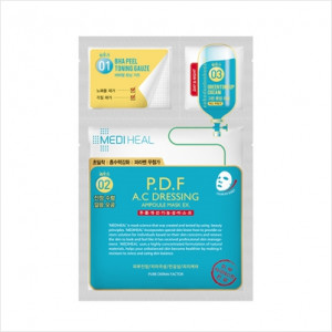 MEDIHEAL 3 Step P.D.F A.C Dressing Ampoule Mask EX 10pcs
