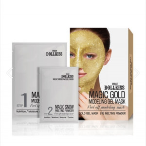 Альгинатная маска URBAN DOLLKISS Magic Gold Modeling Gel Mask 50g+5g