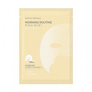 Утренняя маска с гиалуроновой кислотой Nature Republic Morning routine mask sheet 17g