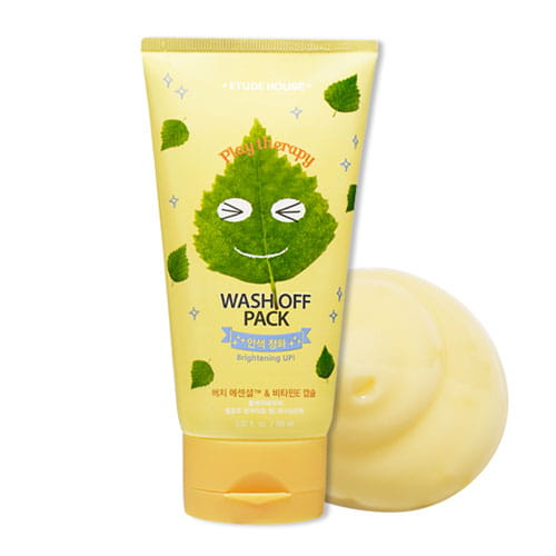 Маска для лица с березовым соком и витаминами Etude House Play Therapy Yellow Brighte Up! Wash Off Pack 150ml
