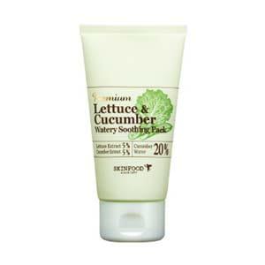 Огуречная  увлажняющая маска Skinfood Lettece & Cucumber Watery Soothing Pack 100g
