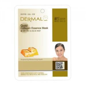 Коллагеновая маска с коллоидным золотом Dermal Gold Collagen Essence Mask 23g