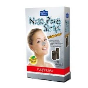 Специальные очищающие полоски для носа PureDerm Nose Pore Strips Charcoal