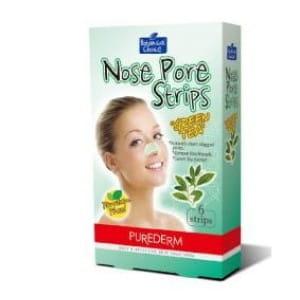 Средство для очистки кожи носа Purederm Nose pore Strips Green tea