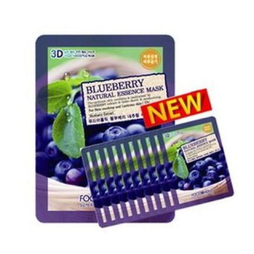Листовая маска с голубикой Food a Holic 3D Natural essence mask [Blueberry] x10EA
