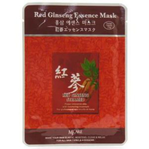 Маска с красным женьшенем  из ткани MJ CARE Essence Mask [Red Ginseng]