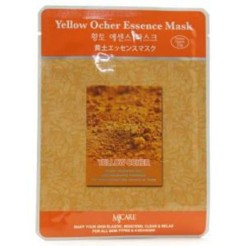 Листовая маска для лица  с жёлтой охрой MJ CARE Essence Mask [Yellow Ocher]