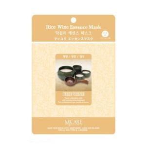 Маска  листовая с рисовым вином MJ CARE Essence Mask [Rice Wine]