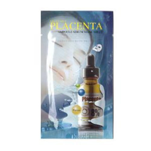 Листовая маска с плацентой The Ylang Gallery Vegetable Placenta Ampoule Serum Mask Sheet