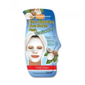 Увлажняющая маска для сухой кожи лица с маслом ши Purederm Ultra Hydrating Shea Butter Mask