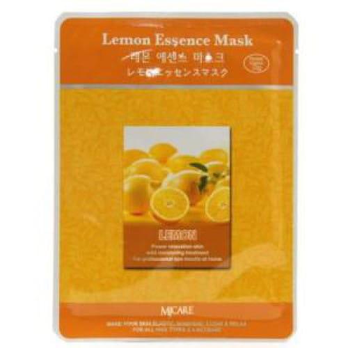 Маска для лица с экстрактом лимона MJ CARE Essence Mask [Lemon]