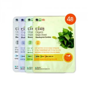 Серия листовых  масок All Natural Organic Mask Sheet 25ml*4ea