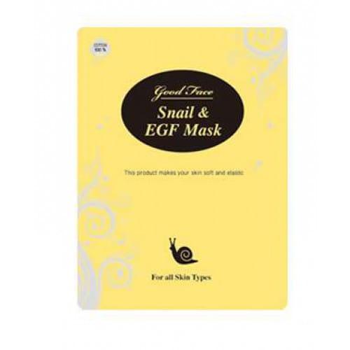 Регенерирующая маска для лица с фильтратом слизи улитки LUS Good face Snail & EGF mask sheet