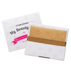 Матирующие салфетки для жирной кожи Etude House My beauty tool yam oil control paper 1pack (100pcs)