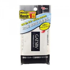 Матирующие салфетки GATSBY Powdered Oil Clear Paper (70pcs)