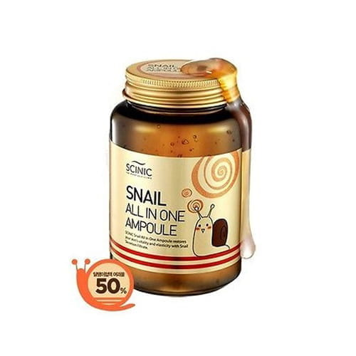 Сыворотка с улиточной слизью  Scinic Snail All in One Ampoule 250ml