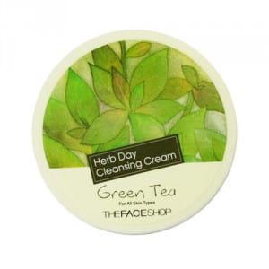 Очищающий крем с экстрактом зеленого чая The Face Shop Herb Day Cleansing Cream - Green Tea 150ml