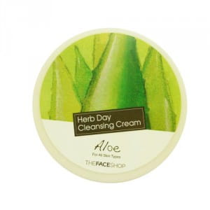 Мягкий очищающий крем с алоэ The Face Shop Herb Day Cleansing Cream - Aloe 150ml