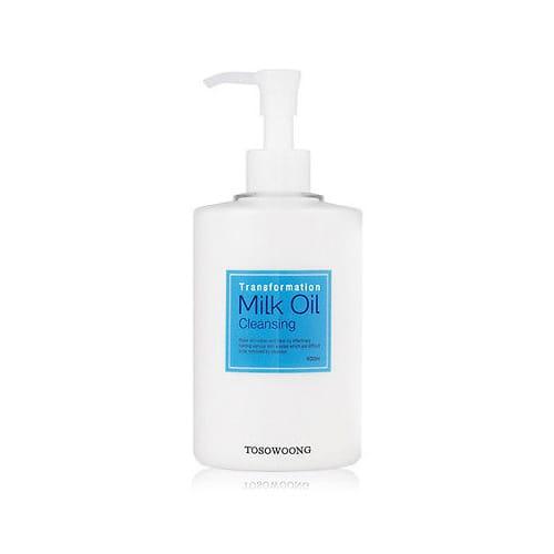 Гидрофильное масло Увлажняющее молочко для дица TOSOWOONG Milk Cleansing Oil 400ml