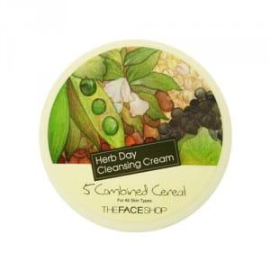 Очищающий крем с растительными ингредиентами The Face Shop Herb Day Cleansing Cream - 5 Grains Cereal 150ml