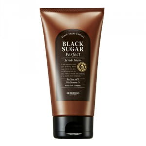 Очищающая пенка-скраб Skinfood Black sugar perfect scrub foam 180g
