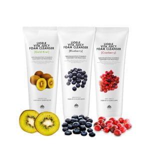 Очищающая пенка для лица LIOELE Vita Juicy Foam Cleanser Cranberry For Oily Skin 150ml