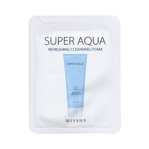 Средство для глубокого очищения кожи лица Missha Super Aqua Refreshing Cleansing Foam 2ml*10ea