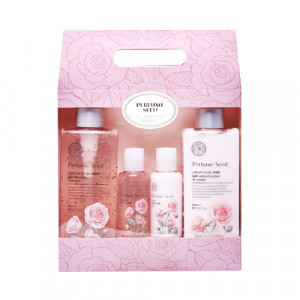 THE FACE SHOP Perfume Seed Velvet Special Body Set 300ml*2+60ml*2