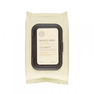 THE FACE SHOP Mango Seed Silk Moisturizing Cleansing Wipes 50pcs