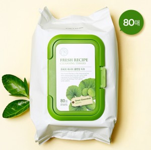THE FACE SHOP Fresh Recipe Cleansing Tissues 80 Sheets