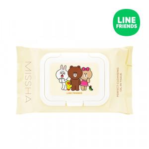 MISSHA (Line Friends) Super Aqua Perfect Cleansing Oil in Tissue 30ea