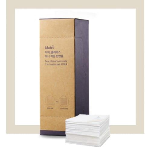 Двусторонние салфетки из хлопка Lairs 2 in 1 Cotton pad 120ea