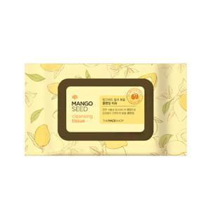 Очищающие влажные салфетки THE FACE SHOP Mango Seed Cleansing Tissue 50pcs