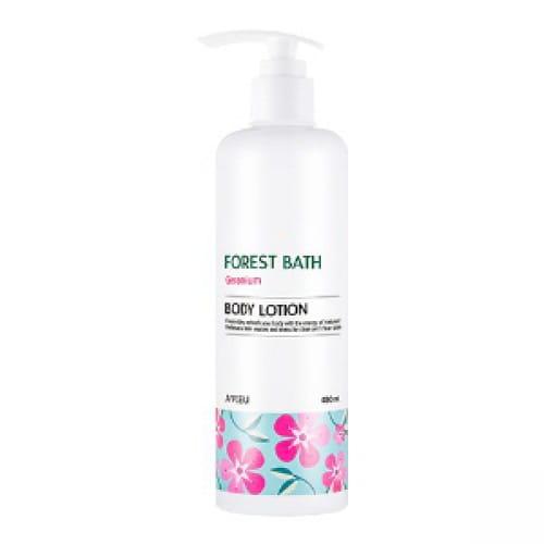 Лосьон для тела с маслом герани A'Pieu Forest bath body lotion geranium 480ml