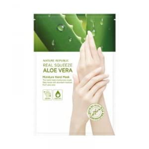 NATURE REPUBLIC Real Squeeze Aloe Vera Moisture Hand Mask 14ml