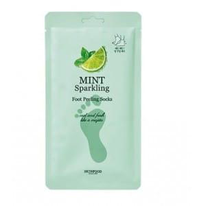 Носочки-пилинг для стоп Skinfood Mint sparkling foot peeling socks 20g*2ea