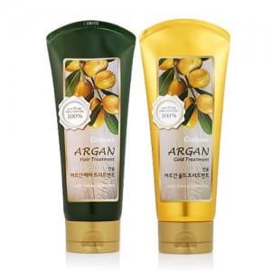 Укрепляющий кондиционер для волос с маслом миндаля и кокоса WELCOS Confume Argan Hair Gold Treatment 200g