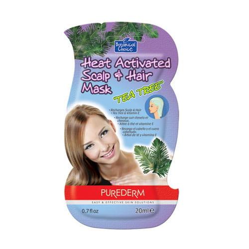 Маска для волос с экстрактом чайного дерева Purederm Heat activated scalp hair mask tea tree 20 ml.