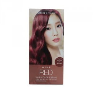 Краска для волос NATURE REPUBLIC Hair & Nature Hair Color Cream #8R wine red 60+60g