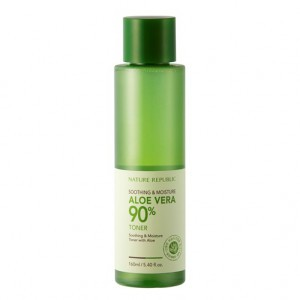 Увлажняющий тонер NATURE REPUBLIC Soothing & Moisture Aloe Vera 90% Toner 160ml