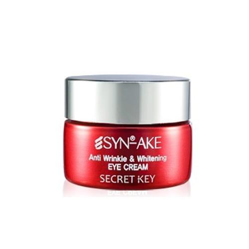 Крем с осветляющим эффектом для кожи вокруг глаз Secret Key Synake Anti Wrinkle & Whitening Eye Cream 15g