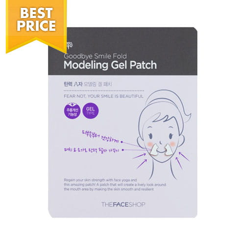 Локальная маска для кожи вокруг рта The Face Shop Good Bye Smile Fold Modeling Gel Patch 2Sheets