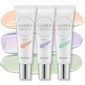 База под макияж с солнцезащитным эффектом Missha Lighting tone up base spf30 PA++ 20ml