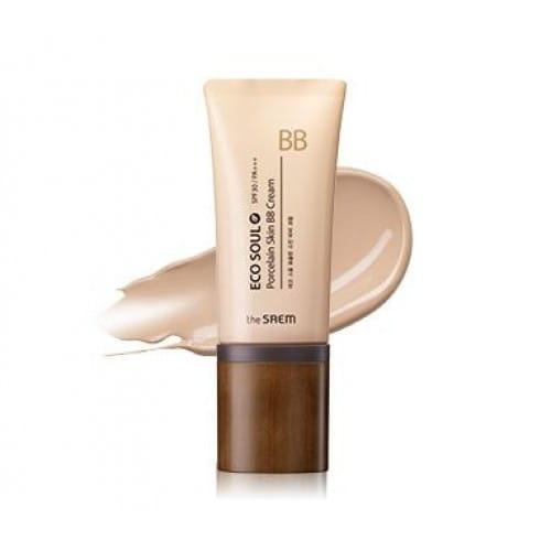 ВВ-крем с эффектом фарфоровой кожи The Saem Eco soul porcelain skin bb cream 45g