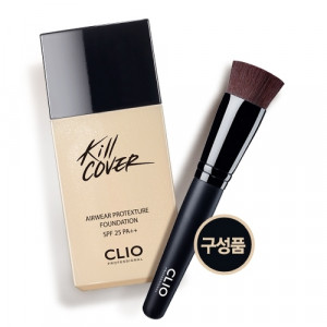 CLIO Kill Cover Airwear Protexture Foundation SPF25 PA++ 35ml + Brush 1ea