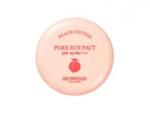 SKINFOOD Peach Cotton Pore Sun Pact SPF42 PA+++ 9g