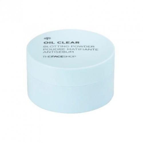 Матирующая прозрачная пудра The Face Shop Oil clear blotting powder 9g