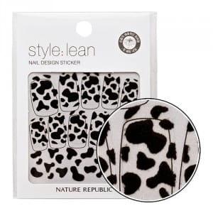 Стикеры для ногтей NATURE REPUBLIC Style Lean Nail Design Sticker #06 Black Cow 10strips