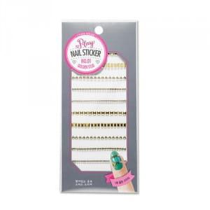 Стикеры для ногтей ETUDEHOUSE Play Nail Sticker (Golden studs) N0.01